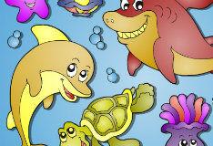 Игра Подводный мир: раскраска