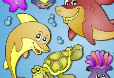 Подводный мир: раскраска
