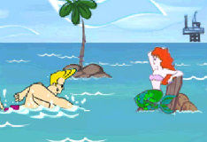 Игра Джонни Браво и безрассудная русалка