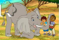 Игра Африканское сафари с Диего: пазл