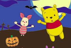 Игра Винни Пух и Пятачок: Раскраска
