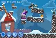 Игра Лети, снежный зомби, лети!