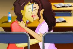 Игра Школьный поцелуй