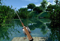 Игра Рыбалка на лесном озере