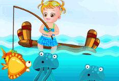 Игра Малышка Хейзел идет на рыбалку