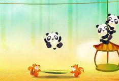 Невероятный прыжок панды