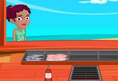 Игра Кафе морепродуктов Серены