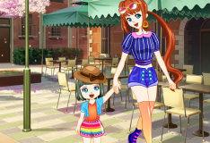 Игра Мама и дочка: Одевалка