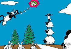 Игра Безумная овца: Раскраска