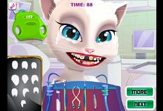 Игра Том и Анжела лечат свои зубы