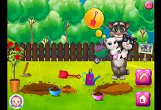 Игра Том и его семья ухаживают за садом