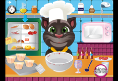 Игра Кот Том готовит кексы для Анжелы