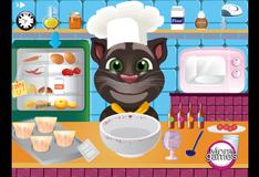 Кот Том готовит кексы для Анжелы