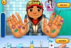 Игра Сабвей Серф: Вылечи руки