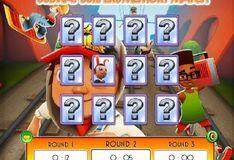 Игра Сабвей Серф: Одинаковые карточки