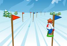 Игра Медвежонок Фредди на сноуборде