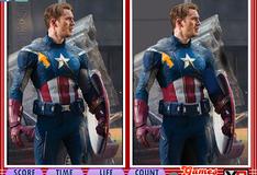 Игра Отличия на фотографиях Капитана Америки