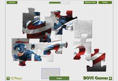 Игра Склеивание деталей фото Капитана Америки