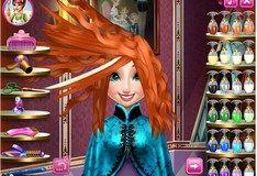 Игра Игра Холодное Сердце. Прически для Анны