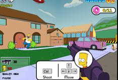 Игра Барт Симпсон отстреливает хулиганов