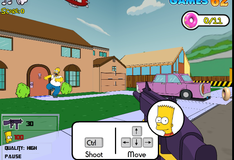 Барт Симпсон отстреливает хулиганов