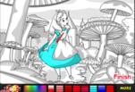 Игра Раскрашивание фотографии Алисы в стране чудес