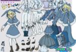 Алиса в стране чудес одевалка