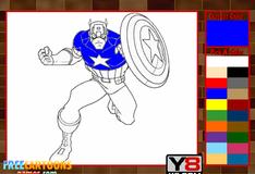 Игра Капитан Америка: Раскраска