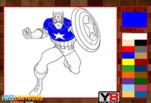 Игра Капитан Америка Раскраска