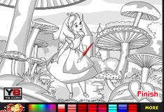 Алиса в стране чудес: раскраска