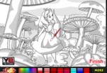 Алиса в стране чудес раскраска