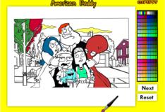 Игра Игра Раскраска Американский папа