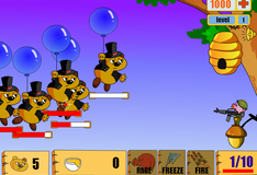 Стрельба  по медведям на воздушных шарах