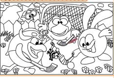 онлайн игры смешарики хоккей бесплатно