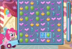 Игра Пинки Пай - 3 в ряд.