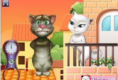 Игра Говорящий кот Том Поцелуй