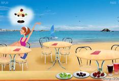 Мороженое на пляже
