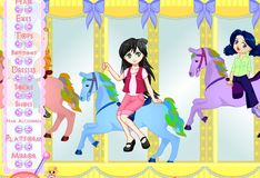 Игра Карусель с лошадками