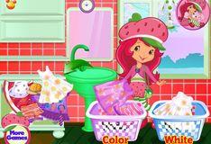 Игра Игра Шарлотта Земляничка: Стирка одежды