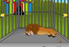 Игра Игра Побег из клетки льва