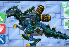 Игра Комбинат дино роботов. Солдат тираннозавр
