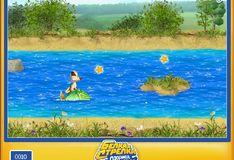 Игра Белка и Стрелка - перемещения по воде