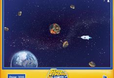Игра Игра Белка и Стрелка - в облаке астероидов