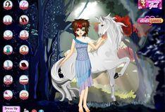 Игра Игра Ночная фея и единорог - одевалки