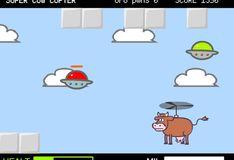 Игра Игра Супер Корова на Вертолете
