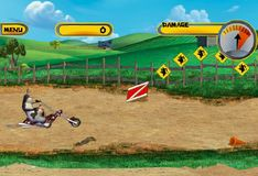 Игра Корова на мотоцикле