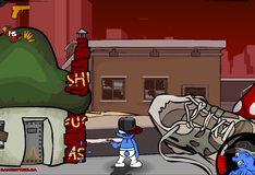 Игра Смурфик охотится на преступников города