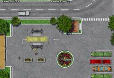 Парковка автобуса с прицепом