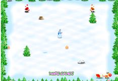 Игра Санта Клаус собирает подарки