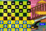 играйте в Игра в шашки Утенок против кота
